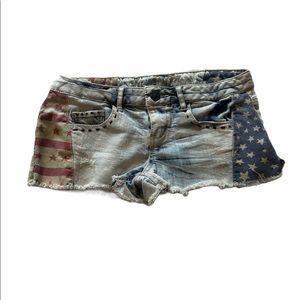 Vanilla Star Stars & Stripes Short Jean Shorts